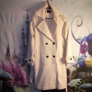 🎃Pale pink trench style peacoat